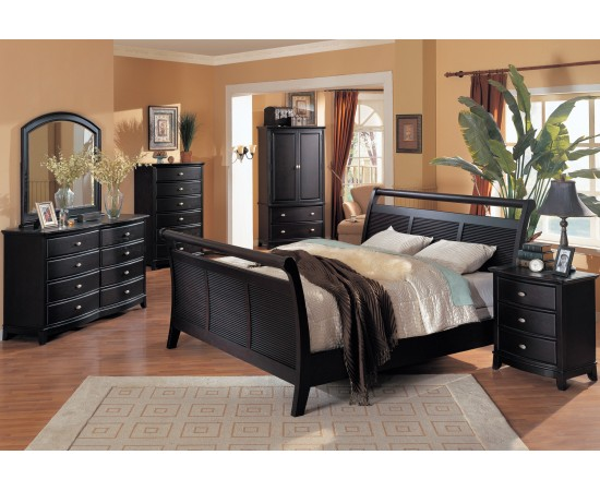 5th Avenue Bedroom Set Espresso Finish