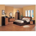 Andrea Bedroom Set Zebra High Gloss Finish