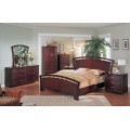 Angela Footboard Bedroom Set Cherry Finish
