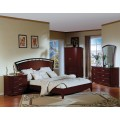 Angela Platform Bedroom Set Cherry Finish