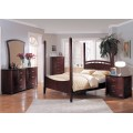 Angela Poster Bedroom Set Cherry Finish