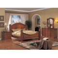 Grace Bedroom Set Honey Walnut Finish