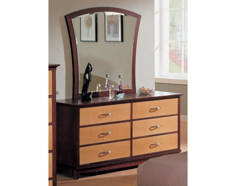 julie bedroom set maple dark cherry finish