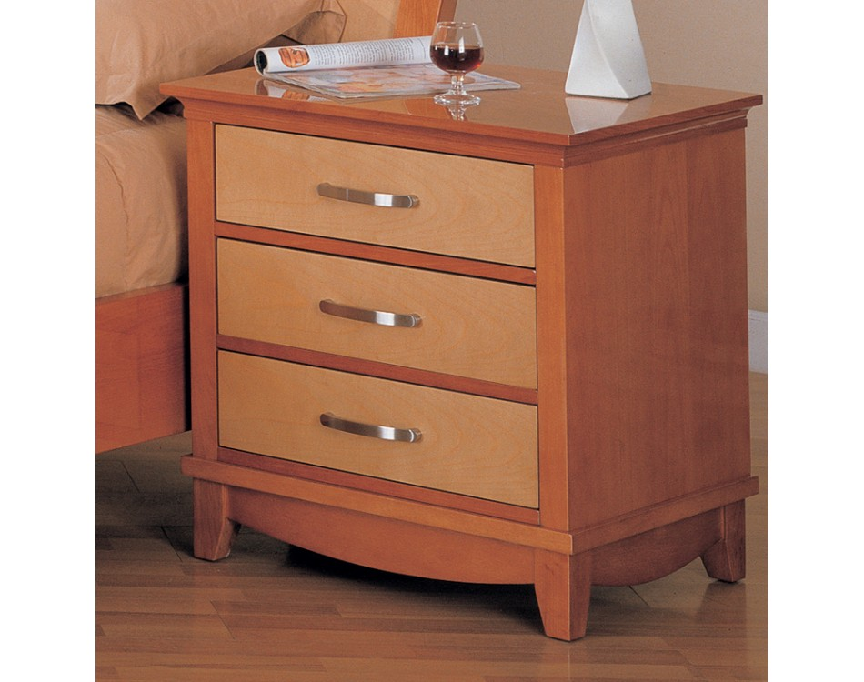 Julie bedroom set maple light cherry finish for Cherry furniture