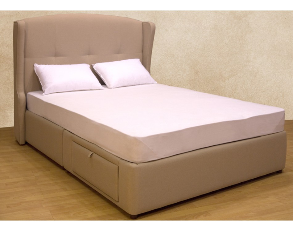 Meridian storage bed simple tufted for Minimalist bed storage