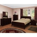 Palazzo Footboard Bedroom Set Espresso, Cherry or Walnut Finish