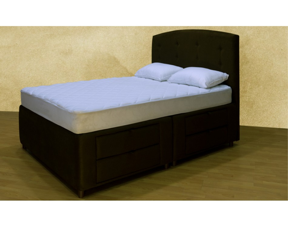 Tiffany 8 Drawer Storage Bed With Head Board