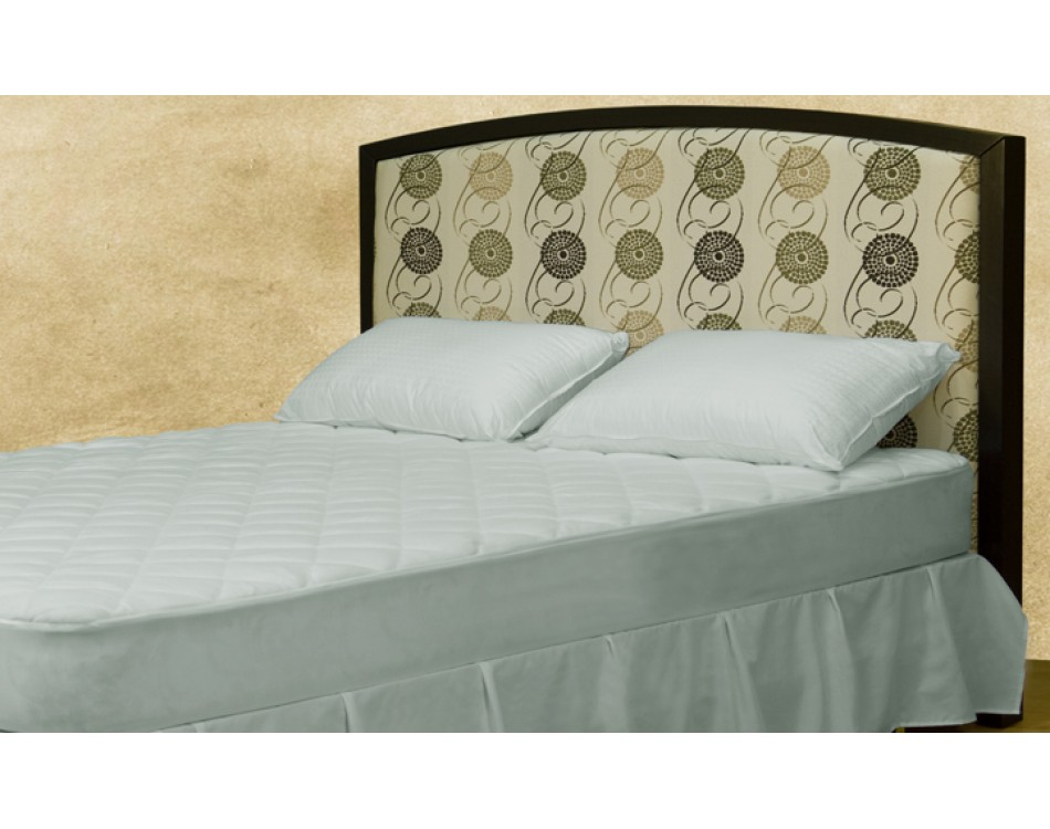 Tina Upholstered Headboard With Espresso Frame